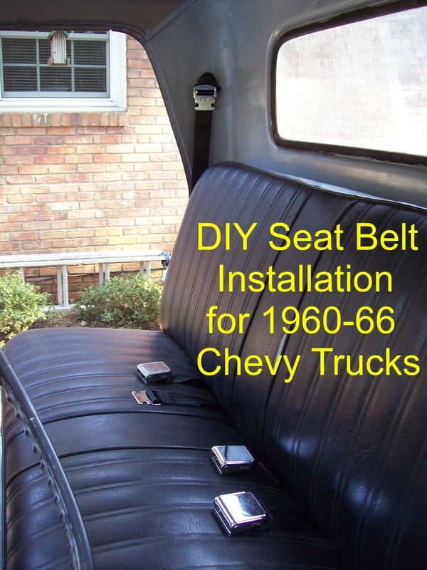 Diy 3 Point Seat Belt Installation Lugnutz65chevystepside