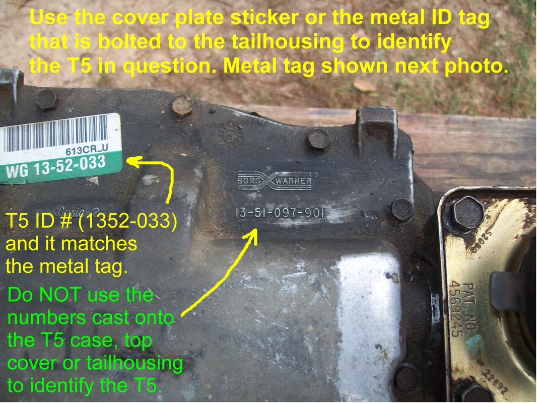 T5 Transmission Identification - What the Tags and Markings Mean